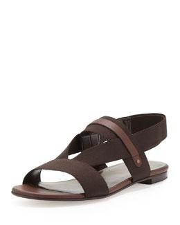 Stuart Weitzman Heretostay Elastic Sandal, Cola