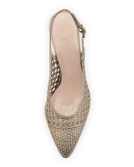 Meeting Woven Slingback Pump, Ale