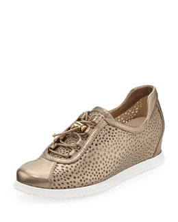 Stuart Weitzman On Your Mark Wedge Sneaker, Ale