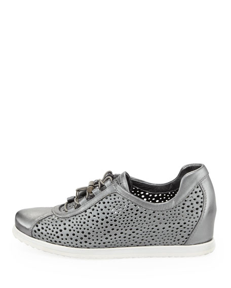 On Your Mark Wedge Sneaker, Pewter