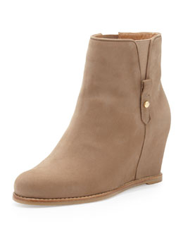 Stuart Weitzman Pipecomo Hidden Wedge Bootie, Tan
