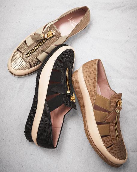 Getaway Strappy Elastic Sneaker, Adobe