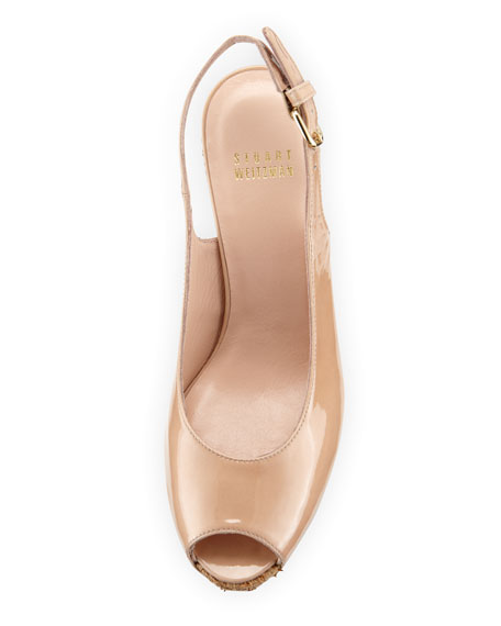 Topper Patent Wedge Sandal, Adobe