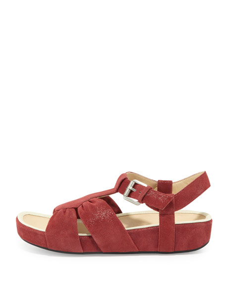 Aviles Suede Sandal, Red