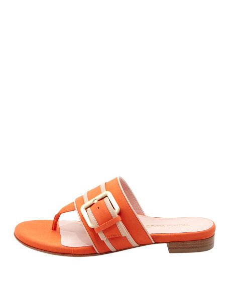 Ikia Thong Sandal with Buckle, Mango