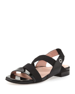 Taryn Rose Iyana Stretch Sandal, Black
