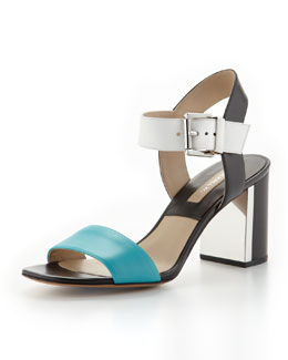 Michael Kors  Lorah Colorblock City Sandal