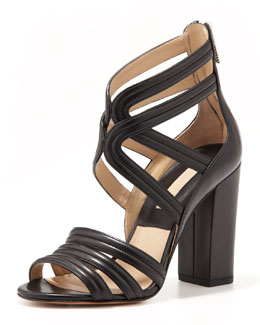 Michael Kors  Preston Strappy Leather Sandal
