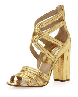 Michael Kors  Preston Watersnake Sandal