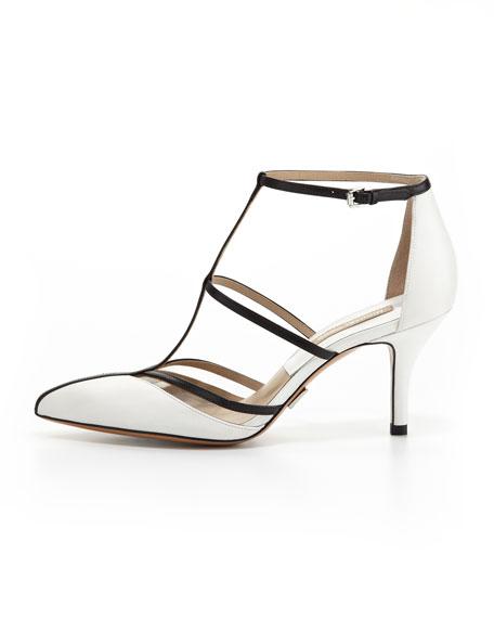 Sahar Pointed-Toe T-Strap Sandal
