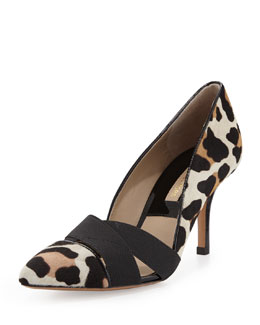Michael Kors  Stephanie Elastic Calf-Hair Pump