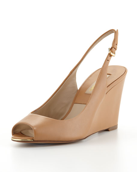 Vikki Peep-Toe Slingback Wedge