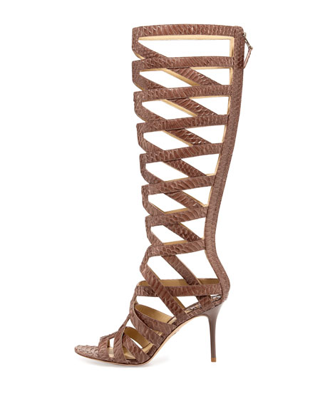 Ethanna Snakeskin Cage Boot