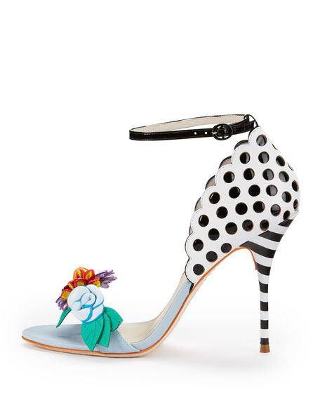 Lilico Floral-Detail Open-Toe Pump