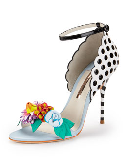Sophia Webster Lilico Floral-Detail Open-Toe Pump