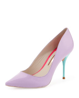 Sophia Webster Lola Patent Colorblock Pump, Lavender