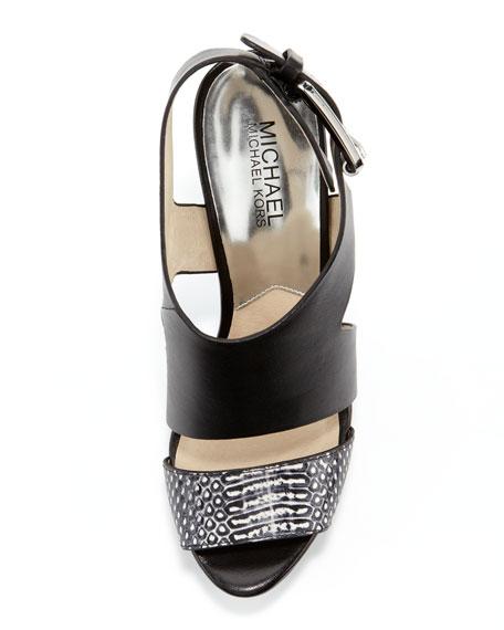 Carla Leather Platform Sandal