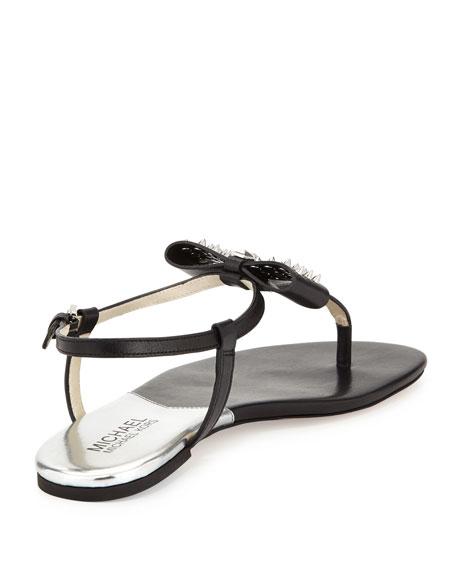 Devin Stud-Bow Thong Sandal