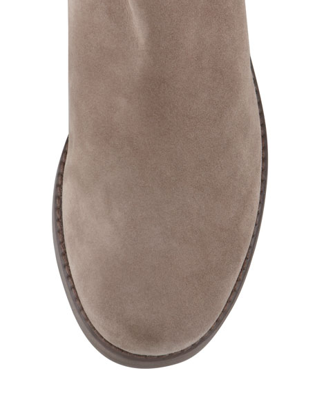 50/50 Wide Suede To-the-Knee Boot, Topo