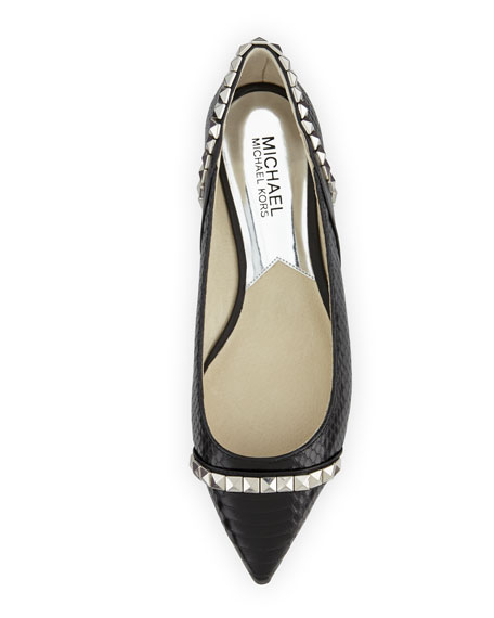6e23519d0d2cb MICHAEL Michael Kors Ella Pointed-Toe Studded Flat