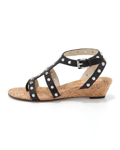 Jolie Studded Wedge Sandal
