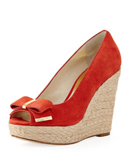MICHAEL Michael Kors  Meg Suede Bow Wedge