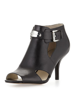 MICHAEL Michael Kors  Logo-Plate Leather Bootie