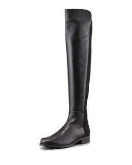 Stuart Weitzman 50/50 Narrow Napa Stretch Over-the-Knee Boot, Black