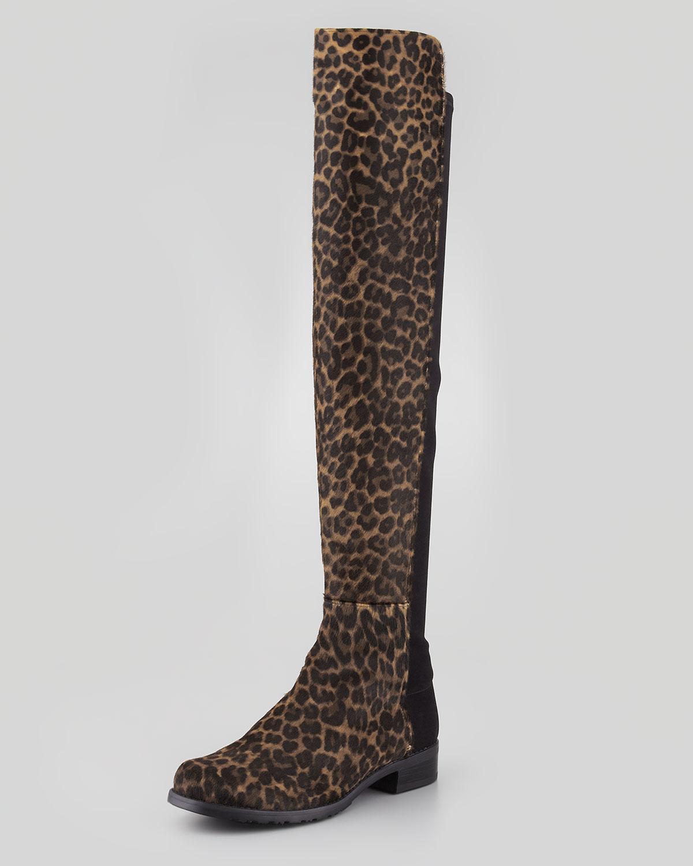 013253b8f1d4 Stuart Weitzman 50/50 Narrow Calf Hair Over-the-Knee Boot | Neiman ...