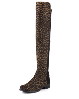 Stuart Weitzman 50/50 Calf Hair Over-the-Knee Boot