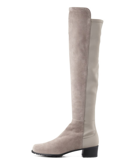 Reserve Suede Over-the-Knee Boot, Topo