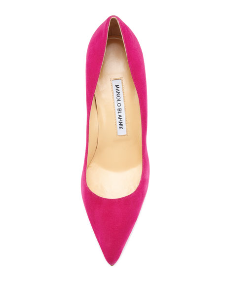 BB Suede 50mm Pump, Fuchsia (Made to Order)
