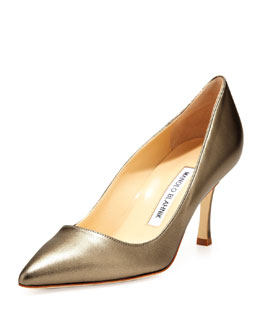 Manolo Blahnik BB Leather 70mm Pump, Alba
