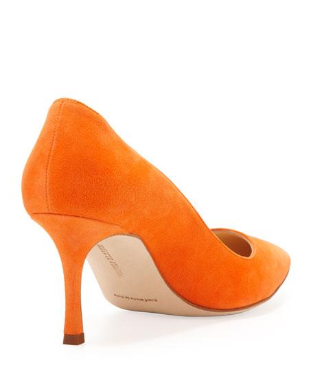 BB Suede 70mm Pump, Orange