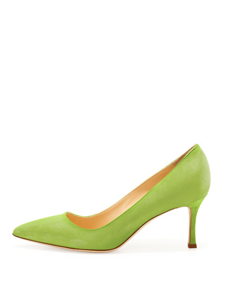 BB Suede 70mm Pump, Cocorita