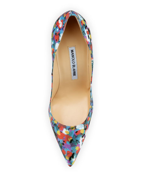 BB Satin 105mm Pump, Floral