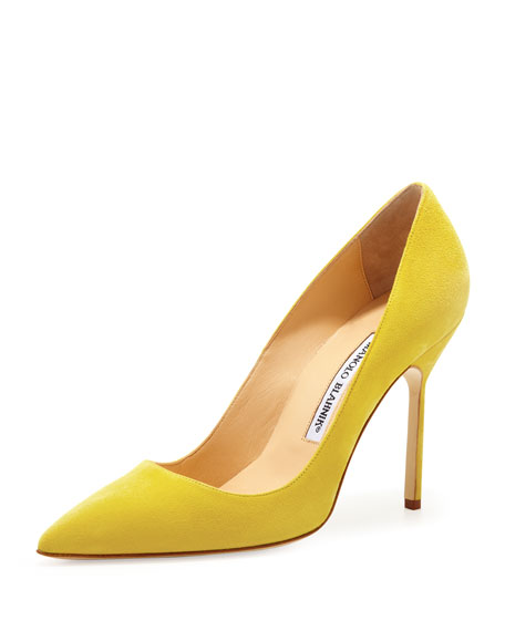 BB Suede 105mm Pump, Limone