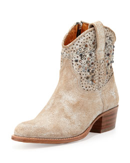 Frye Deborah Studded Short Boot, White