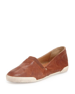 Frye Melanie Leather Flats, Cognac