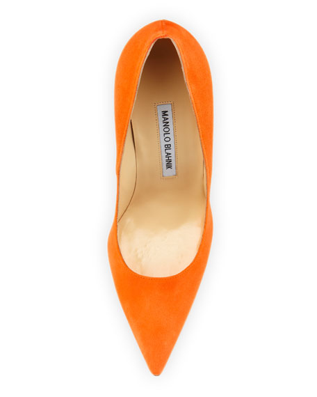 BB Suede 115mm Pump, Orange