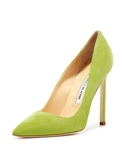 Manolo Blahnik BB Suede 115mm Pump, Cocorita