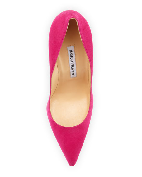 BB Suede 115mm Pump, Fuchsia (Made to Order)