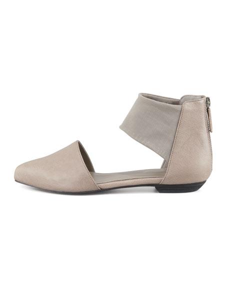 Allot Leather d'Orsay Flat, Quartz