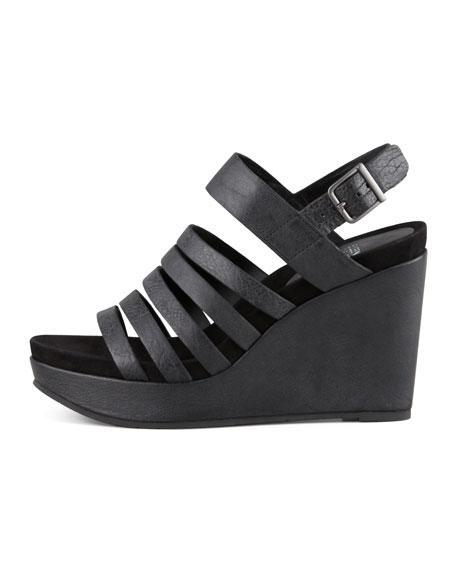 Plenty Strappy Wedge Sandal, Black