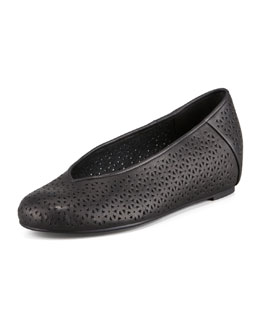 Eileen Fisher Patch Perforated Ballerina Flat, Black