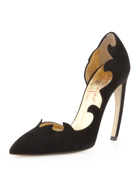 Flame-Trim d'Orsay Pump, Black