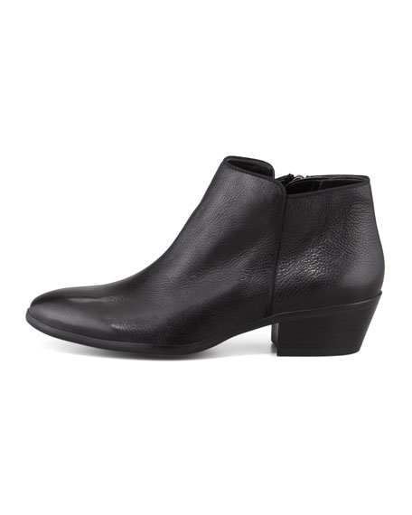 sam edelman petty leather ankle boot black
