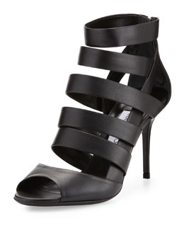 Jimmy Choo Duran Strappy Caged Bootie, Black