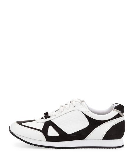 Jeni Embossed Sneaker, White/Black