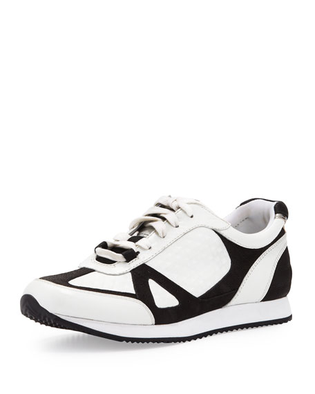 Jeni Embossed Sneaker, White/Black